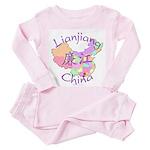 Lianjiang China Map Toddler Pink Pajamas