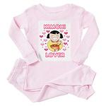 Kimchi Lover Toddler Pink Pajamas