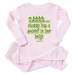 Secret in moms belly Toddler Pink Pajamas