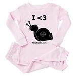 I <3 Turbo Snail - Toddler Pink Pajamas