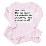 Dear Santa letter Toddler Pink Pajamas