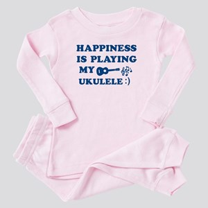 Ukulele Vector Designs Toddler Pink Pajamas