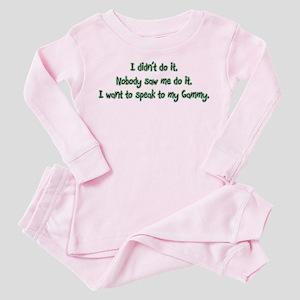 Want to Speak to Gammy Toddler Pink Pajamas