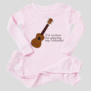 Ukulele Design Toddler Pink Pajamas
