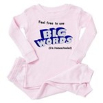 Big Words Toddler Pink Pajamas