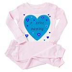 I Love Daddy Baby Pink Pajamass