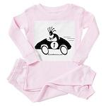 Kokopelli Race Car Driver Toddler Pink Pajamas