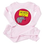 NO NUTS (or traces) Toddler Pink Pajamas