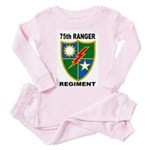 75TH RANGER REGIMENT Toddler Pink Pajamas