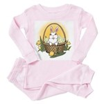 Easter Bunny Baby Pink Pajamas Toddler Easter Pink