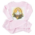 Pocket Easter Bunny Toddler Pink Pajamas