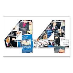 44: Obama Inauguration Newspaper Decal