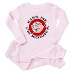 Kiss Me I'm Kosher Toddler Pink Pajamas
