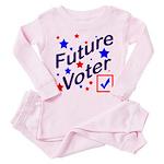 Future Voter Kids Light Toddler Pink Pajamas