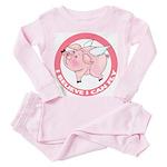 Inspirational Flying Pig Toddler Pink Pajamas