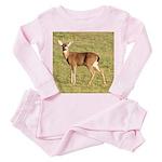 Forked Horn Buck Toddler Pink Pajamas