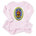 USS LOUISIANA Toddler Pink Pajamas