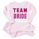 Team Bride Toddler Pink Pajamas