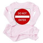 Do Not Enter Sign - Toddler Pink Pajamas