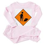 Men at Work Sign 3 - Toddler Pink Pajamas