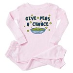 Give Peas A Chance Toddler Pink Pajamas