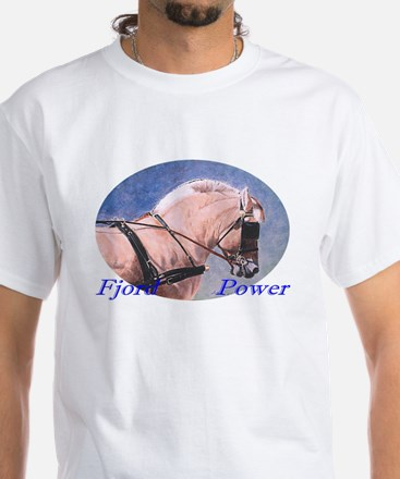 Fjord horse by Delia White T-Shirt