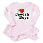 I Love Jewish Boys Toddler Pink Pajamas