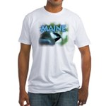 Maine Chickadee Fitted T-Shirt