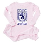 Jerusalem Emblem Toddler Pink Pajamas