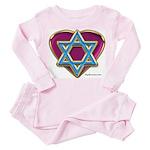 Heart For Israel Toddler Pink Pajamas
