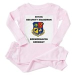 6913TH SECURITY SQUADRON Toddler Pink Pajamas