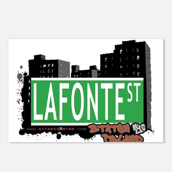 LAFONTE STREET, STATEN ISLAND, NYC Postcards (Pack
