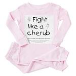 Fight Like A Cherub Toddler Pink Pajamas