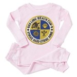 USS LONG BEACH Toddler Pink Pajamas