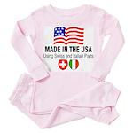 Swiss Italian Parts Toddler Pink Pajamas