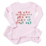 Unsocialized Toddler Pink Pajamas