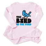 The Bird is the Word Toddler Pink Pajamas