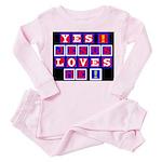 Jesus Loves Me!  Toddler Pink Pajamas