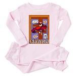 Crawfish Abstract Toddler Pink Pajamas