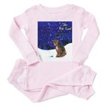 Cat Carol Toddler Pink Pajamas