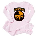 17th Airborne Toddler Pink Pajamas