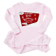 Breastaurant Toddler Pink Pajamas
