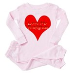 Love My Firefighter Toddler Pink Pajamas
