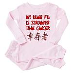Kung Fu Stronger Than Cancer Toddler T-Shir