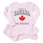 Canada Hockey Toddler Pink Pajamas