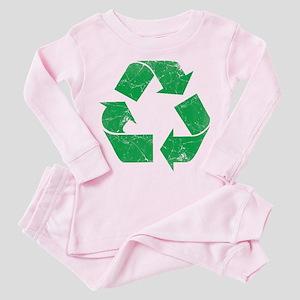 Vintage Recycle Toddler Pink Pajamas