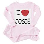 I heart josie Toddler Pink Pajamas