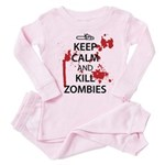 Keep Calm Toddler Pink Pajamas