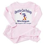 OCP Michigan Toddler Pink Pajamas