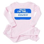 I'm the cousin nametag [blue] Toddler T-Shi